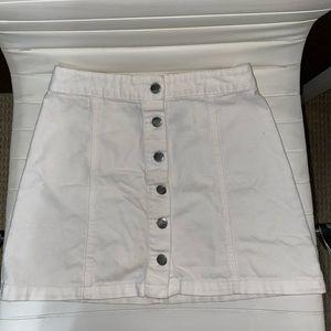 White button down skirt